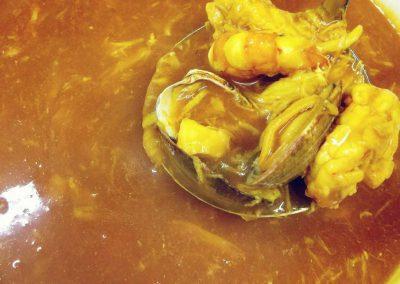 Sopa de marisco - Marisquería Poniente